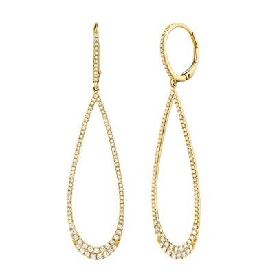 0.80ct 14k Yellow Gold Diamond Lady's Earring