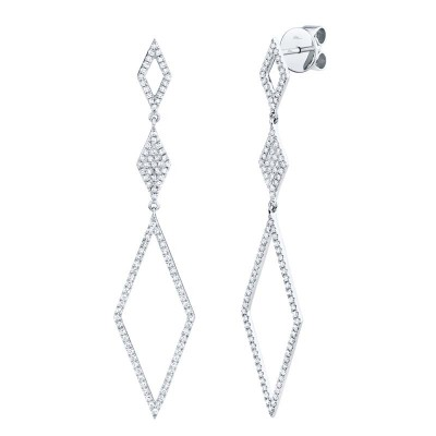 0.51ct 14k White Gold Diamond Lady's Earring