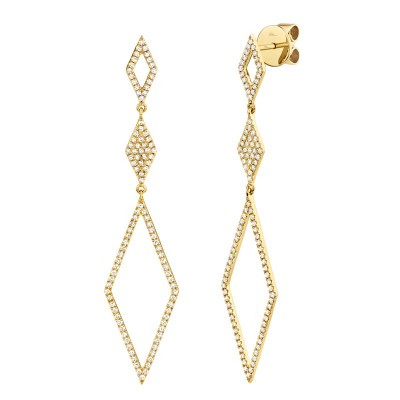 0.51ct 14k Yellow Gold Diamond Lady's Earring