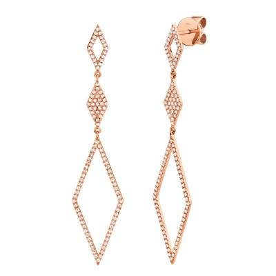 0.51ct 14k Rose Gold Diamond Lady's Earring