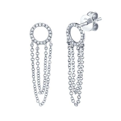 0.10ct 14k White Gold Diamond Earring
