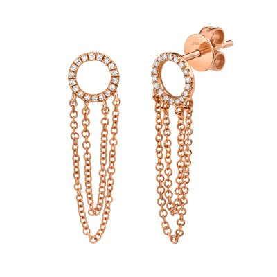 0.10ct 14k Rose Gold Diamond Earring