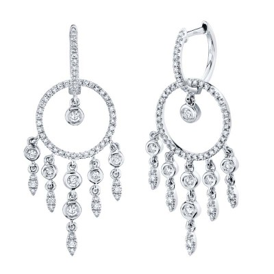 0.62ct 14k White Gold Diamond Earring