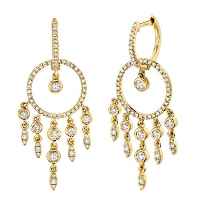 0.62ct 14k Yellow Gold Diamond Earring