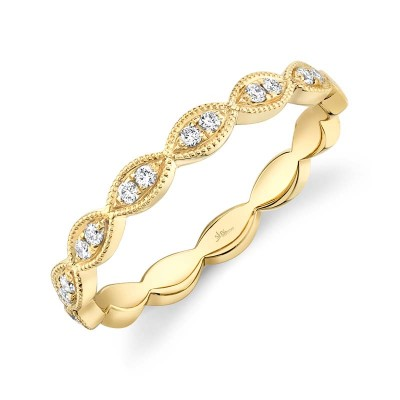 0.13ct 14k Yellow Gold Diamond Lady's Band