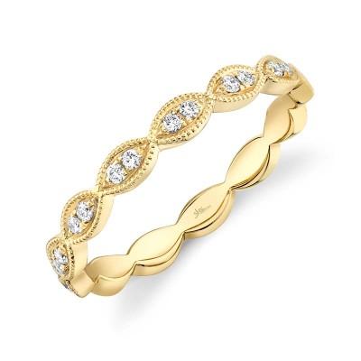 0.13ct 14k Yellow Gold Diamond Lady's Band