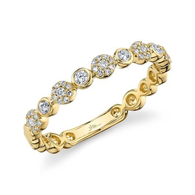 0.22ct 14k Yellow Gold Diamond Lady's Band