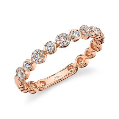 0.22ct 14k Rose Gold Diamond Lady's Band