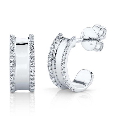 0.17ct 14k White Gold Diamond Earring