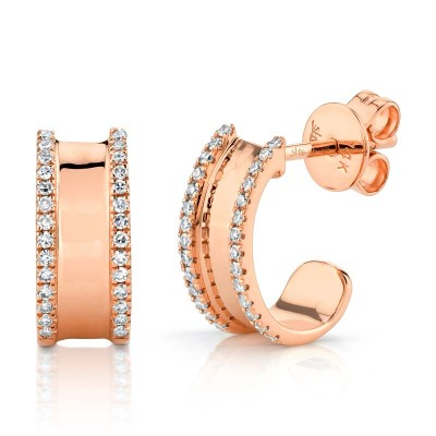 0.17ct 14k Rose Gold Diamond Earring