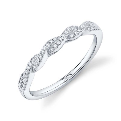 0.12ct 14k White Gold Diamond Lady's Band