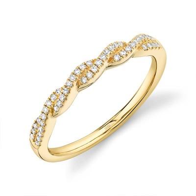 0.12ct 14k Yellow Gold Diamond Lady's Band