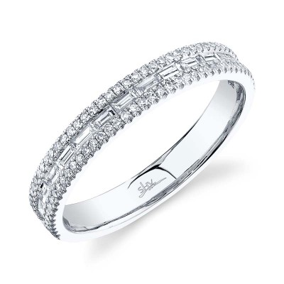0.44ct 14k White Gold Diamond Baguette