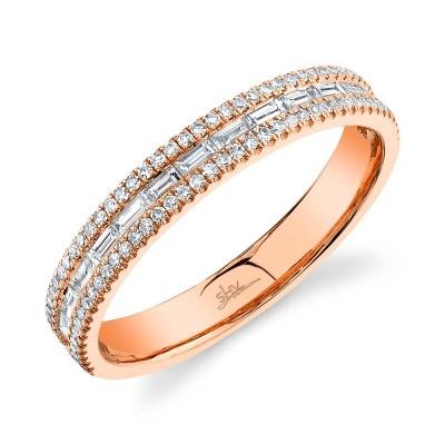 0.44ct 14k Rose Gold Diamond Baguette