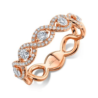 0.57ct 14k Rose Gold Diamond Lady's Ring