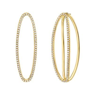 0.42ct 14k Yellow Gold Diamond Earring