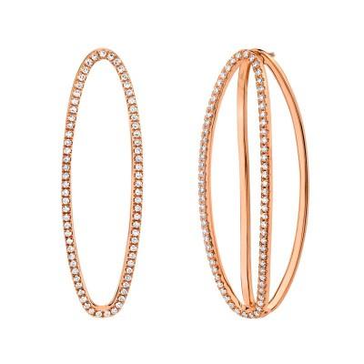 0.42ct 14k Rose Gold Diamond Earring