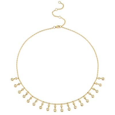 0.93ct 14k Yellow Gold Diamond Necklace