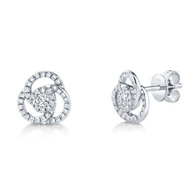 0.32ct 14k White Gold Diamond Stud Earring