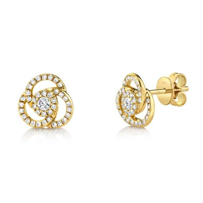 0.32ct 14k Yellow Gold Diamond Stud Earring