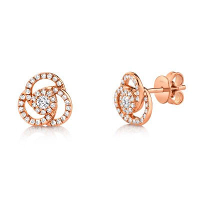 0.32ct 14k Rose Gold Diamond Stud Earring