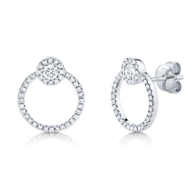 0.39ct 14k White Gold Diamond Earring