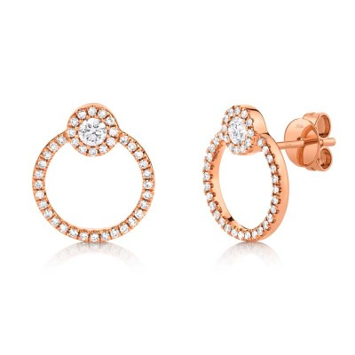 0.39ct 14k Rose Gold Diamond Earring