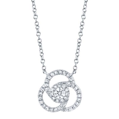 0.20ct 14k White Gold Diamond Necklace