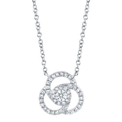 0.20ct 14k White Gold Diamond Necklace