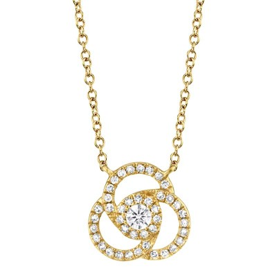 0.20ct 14k Yellow Gold Diamond Necklace