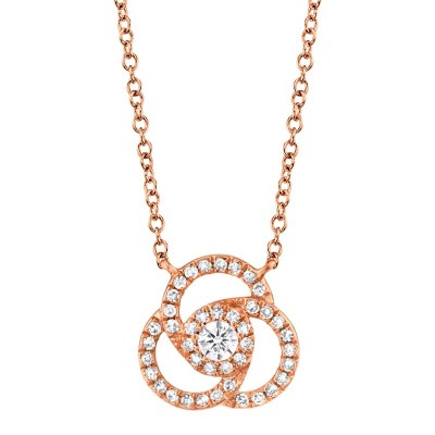 0.20ct 14k Rose Gold Diamond Necklace