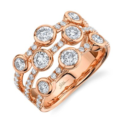 1.58ct 14k Rose Gold Diamond Lady's Ring