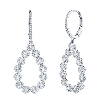 1.64ct 14k White Gold Diamond Lady's Earring