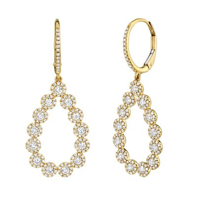 1.64ct 14k Yellow Gold Diamond Lady's Earring