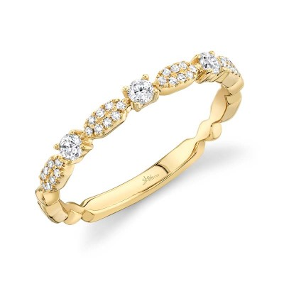 0.22ct 14k Yellow Gold Diamond Lady's Ring
