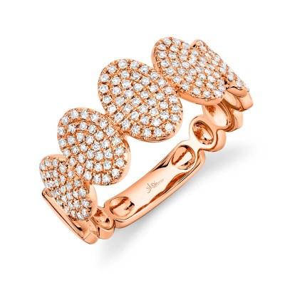 0.38ct 14k Rose Gold Diamond Pave Lady's Ring