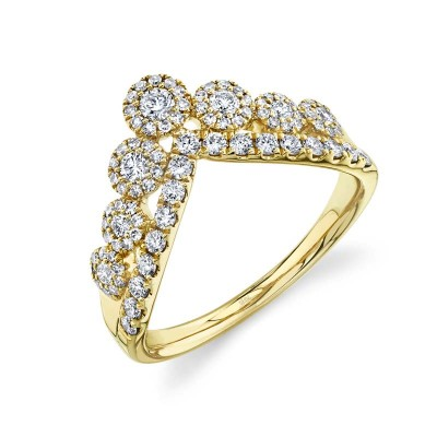 0.66ct 14k Yellow Gold Diamond Lady's Ring