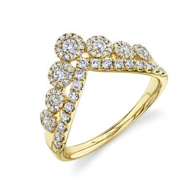 0.66ct 14k Yellow Gold Diamond Lady's Ring