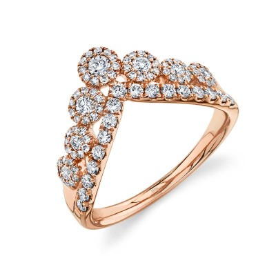 0.66ct 14k Rose Gold Diamond Lady's Ring
