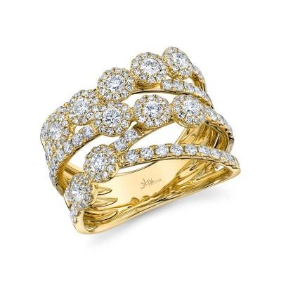 1.54ct 14k Yellow Gold Diamond Lady's Ring