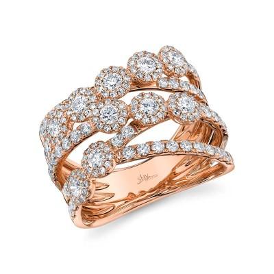 1.54ct 14k Rose Gold Diamond Lady's Ring