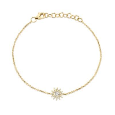 0.14ct 14k Yellow Gold Diamond Star Bracelet