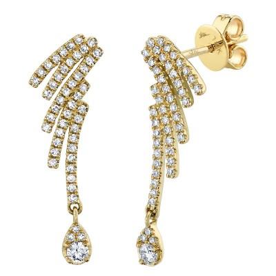 0.40ct 14k Yellow Gold Diamond Earring
