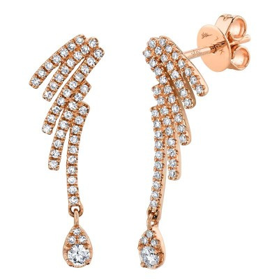 0.40ct 14k Rose Gold Diamond Earring
