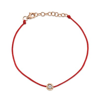 0.09Ct 14k Rose Gold Diamond Bracelet