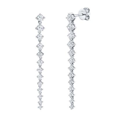1.31ct 14k White Gold Diamond Earring