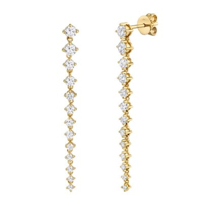 1.31ct 14k Yellow Gold Diamond Earring