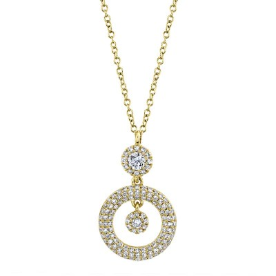 0.39ct 14k Yellow Gold Diamond Necklace