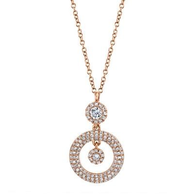 0.39ct 14k Rose Gold Diamond Necklace