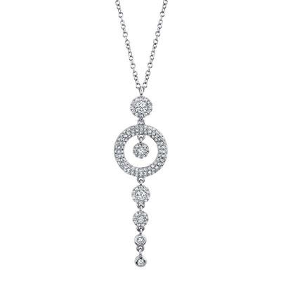 0.53ct 14k White Gold Diamond Necklace